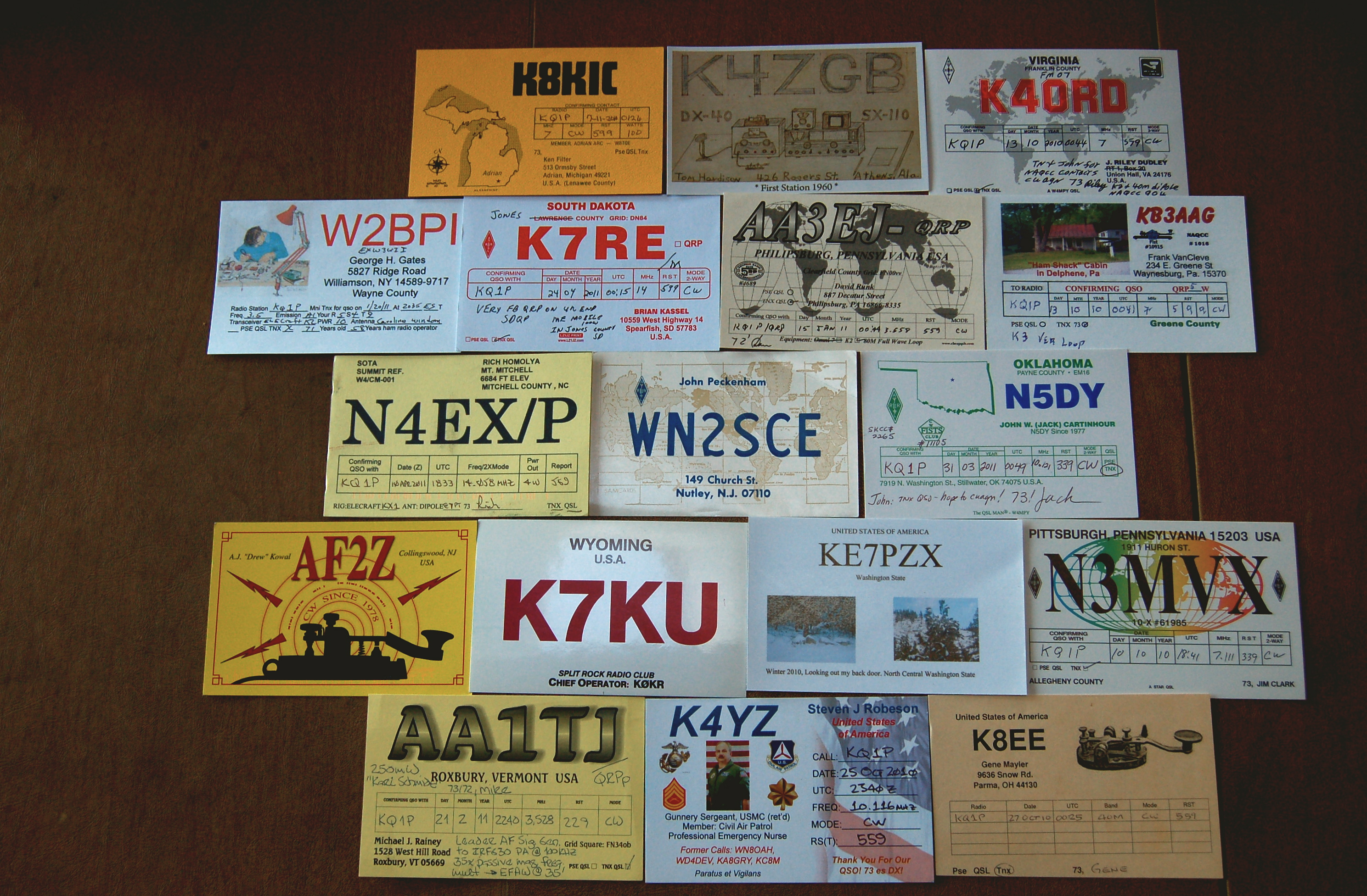 Amateur radio and QSL cards provided me with a great geography lesson.
