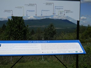 View of Mount Megantic outside of Notre Dame du Bois, PQ.