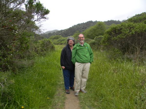 John and Mary on Redwood Creek Trail